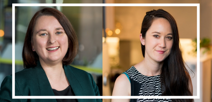 Michelle Phillips, CEO of YWCA Australia and Julia Goodall is the Deputy Chair of the YWCA Australia Board