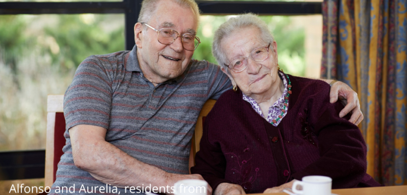 Alfonso and Aurelia, residents from Bundoora Aged Care Residence