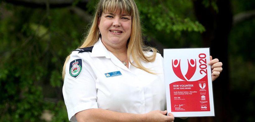 volunteer firefighter Kim Hill