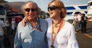 Sir Jackie Stewart and wife Helen Stewart, who was diagnosed with Frontotemporal dementia in 2014.