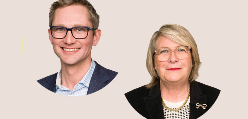 Andrew Wilson and Julie White of mental health charity ReachOut