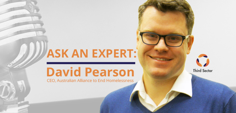 David Pearson of Australian Alliance to End Homelessness