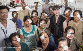Fred Hollows Foundation founding director Gabi Hollows in Vietnam