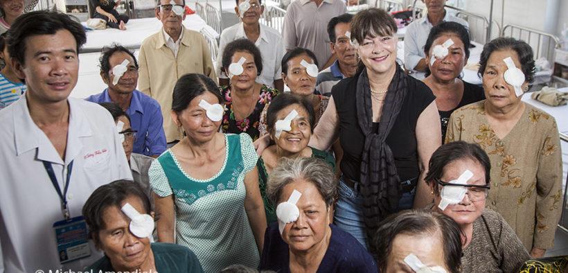 Fred Hollows Foundation founding director Gabi Hollows in Vietnam