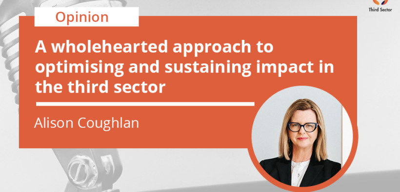 Alison Coughlan writes about the third sector and how to optimise and sustain impact