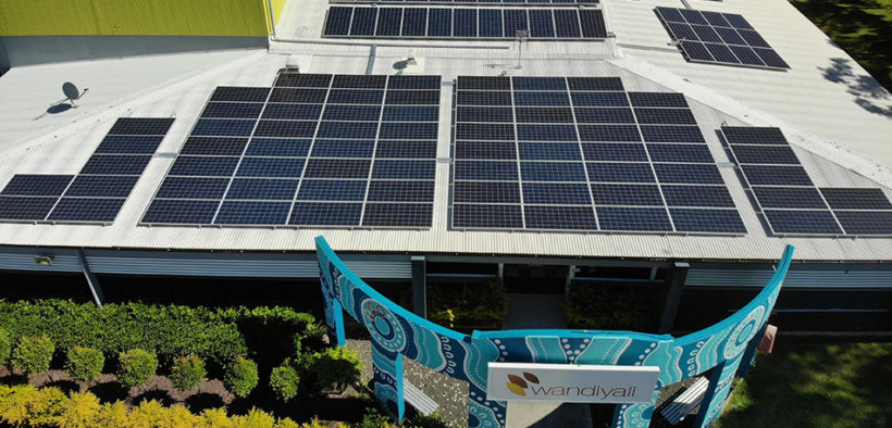 solar energy panels on Wandiyali's roof